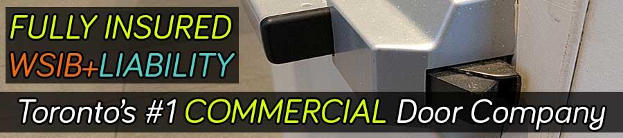 Fire exit commercial door