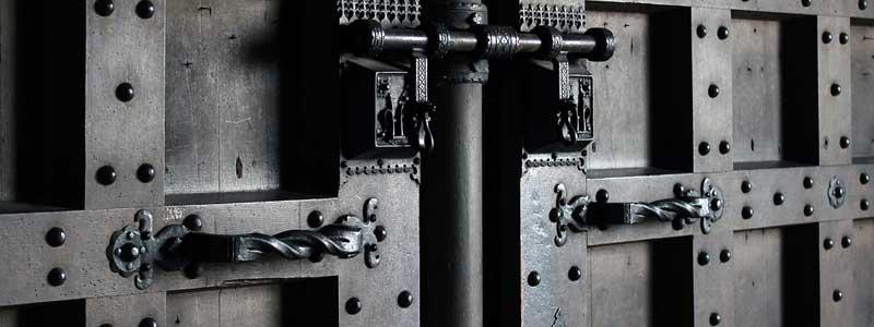 Custom designed steel entry door